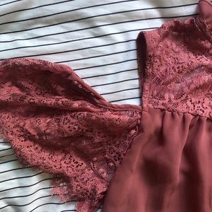 Charlotte Russe Tops - 🎟 NWOT Lace Sheer Blouse | Charlotte Russe